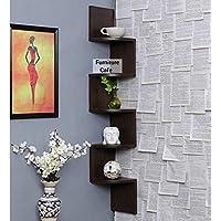 Furniture Cafe Zigzag Corner Wall Mount Shelf Unit/Racks and Shelves/Wall Shelf/Book Shelf/Wall Decoration
