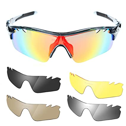2ad9ed610653f Image Unavailable. Image not available for. Color  Polarized Cycling  Glasses Bike Outdoor Sports Bicycle Sunglasses Men Women Goggles ...