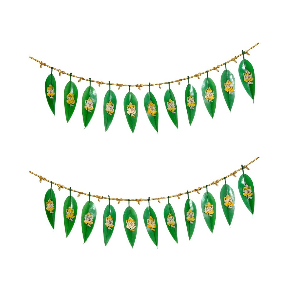 Buy Ganesha In Mango Leaf Toran Set Of 2 For Diwali Decoration Online At Low Prices India