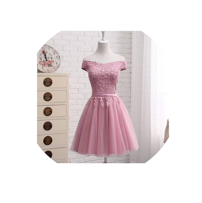 Dusty pink short Bridesmaid Dresses FloorLength Boat Neck Cap Sleeve Applique Embroidery Dress