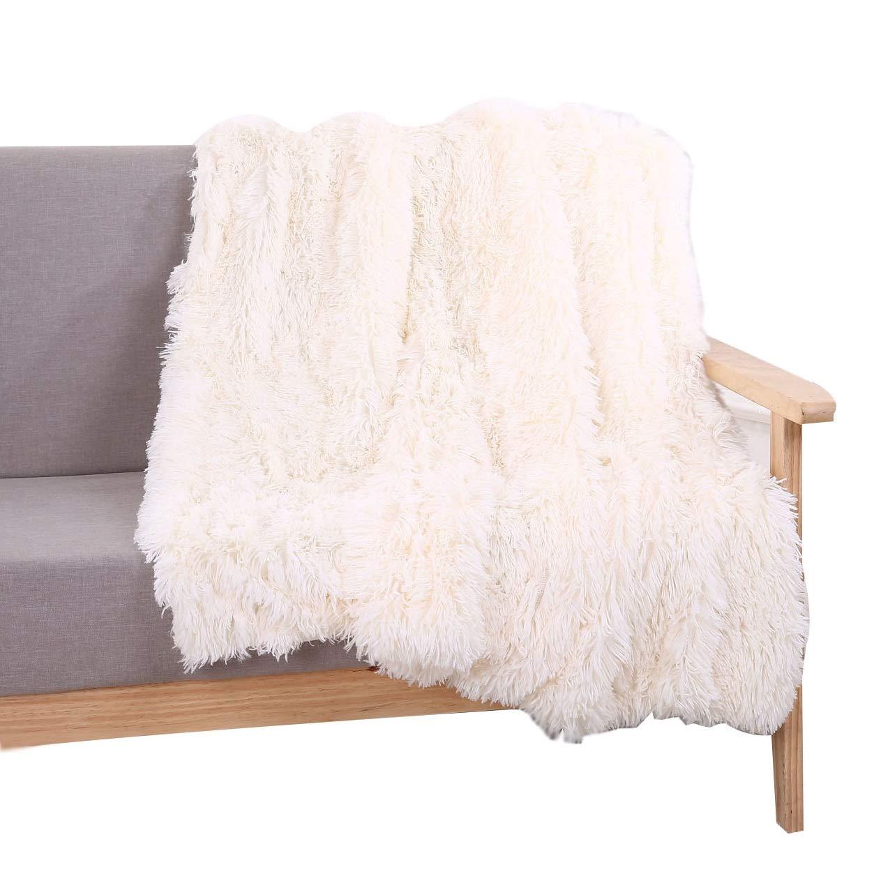 Amazon.com  YOUSA Super Soft Shaggy Faux Fur Blanket Ultra Plush Decorative  Throw Blanket 51  63   9510f27135442