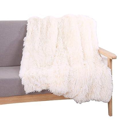 Amazoncom Yousa Super Soft Shaggy Faux Fur Blanket Ultra Plush