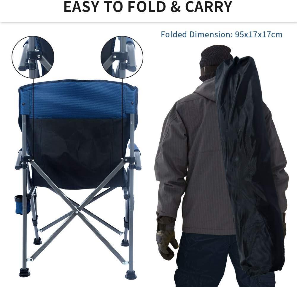 Ihoming Silla plegable para campamento barbacoas pesca perfecta para camping playa festivales viajes en caravana ligera y duradera jard/ín