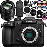 Panasonic Lumix DC-GH5S Mirrorless Digital Camera with 12-35mm f/2.8 II ASPH. POWER O.I.S. Lens 13PC Bundle – Includes 64GB SD Memory Card + MORE - International Version (No Warranty)