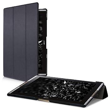 kwmobile Funda compatible con Acer Iconia Tab 10 (A3-A50) - Carcasa de cuero sintético con tapa magnética y soporte para tablet