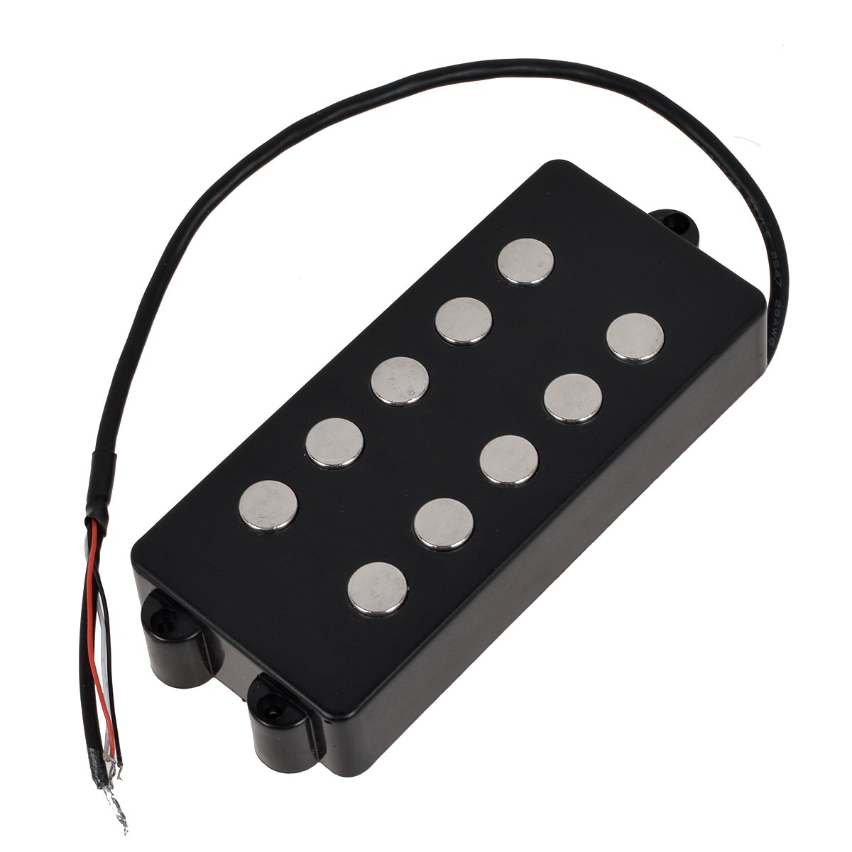 Kmise MI0567 Black 5 String Bass Guitar Pickup Humbucker For Music Man Bass Coil Tap