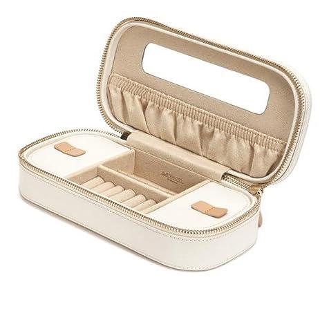 Amazoncom Womens Wolf Designs Chloe Zip Jewelry Case Box in Cream