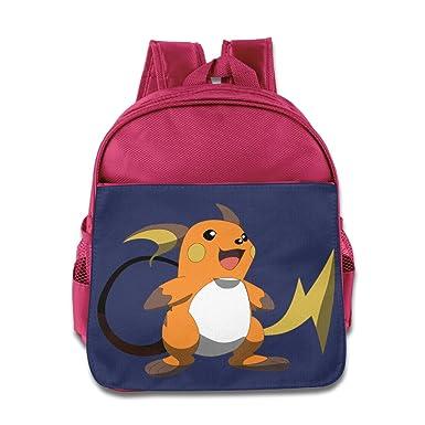 Pokemon Mystery Funny Raichu Backpacks Pink One Size Kids School Bags 524662c74a9ce