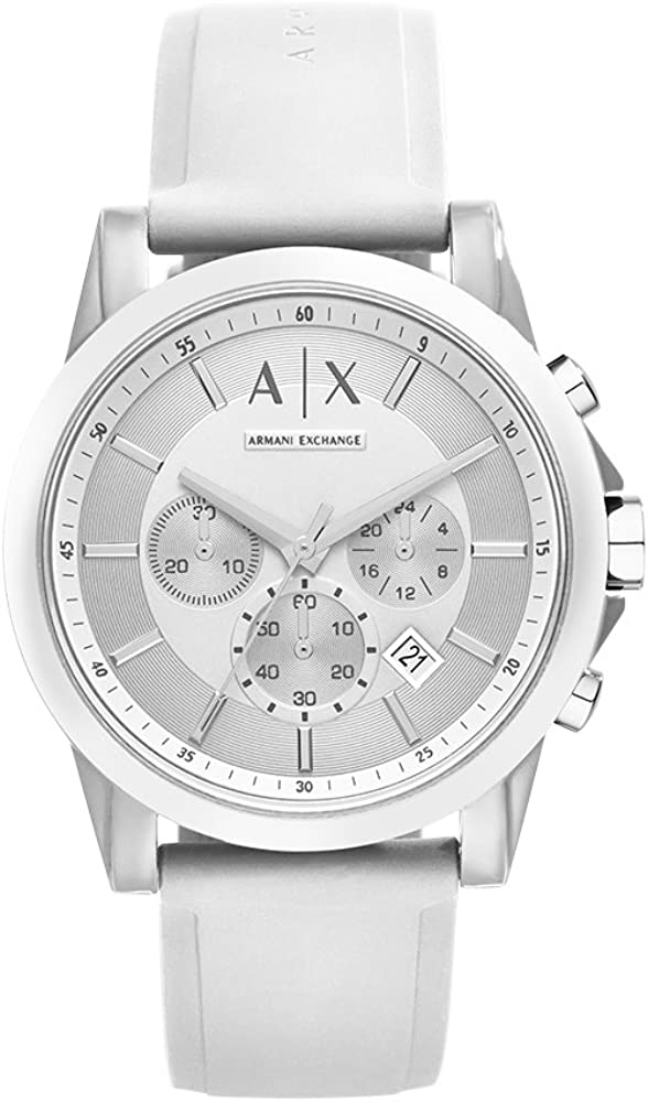 Armani Exchange Men's Stainless Steel Analog-Quartz Watch with Silicone Strap
