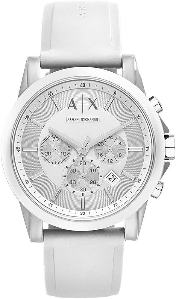 Armani Exchange Men's Stainless Steel Analog-Quartz Watch with Silicone Strap