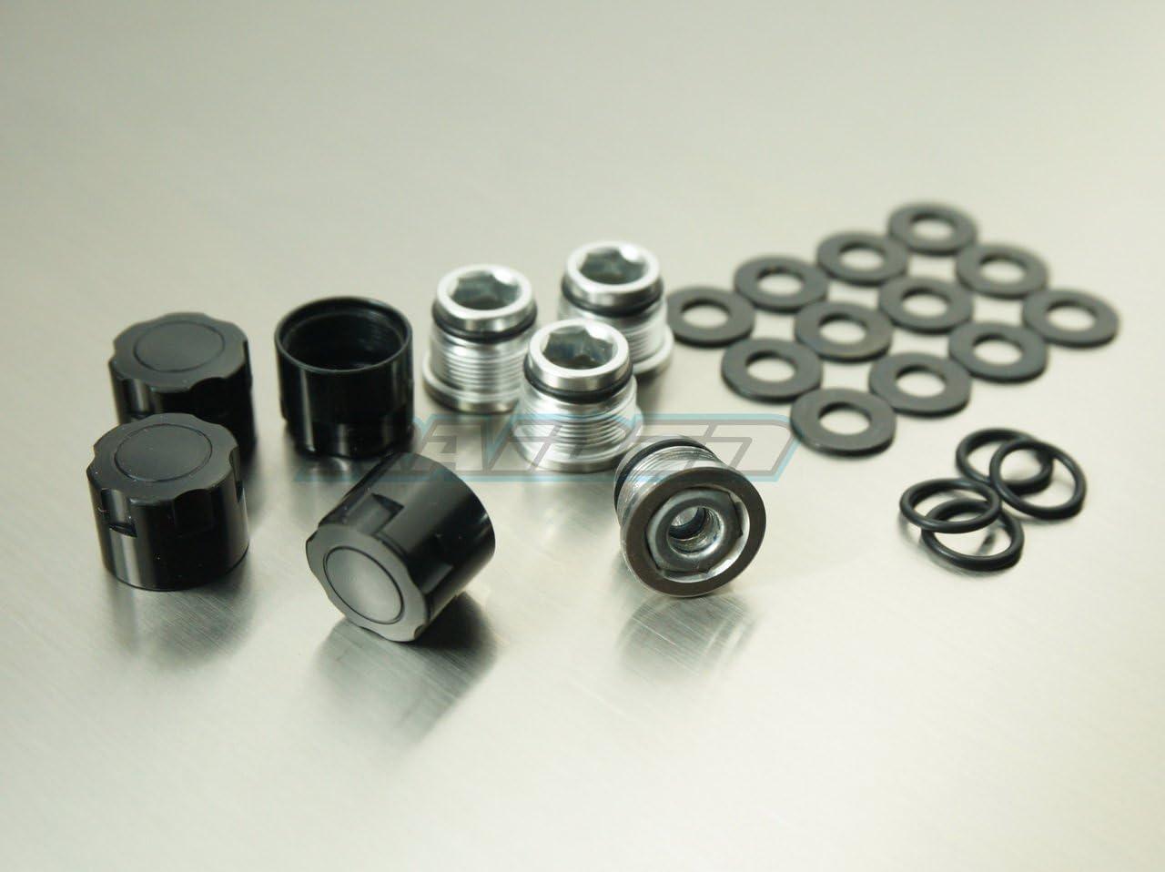 Rc Scale Center Lock Nut METAL WHEEL CAPS Lug Nut COVER 4PCS Black