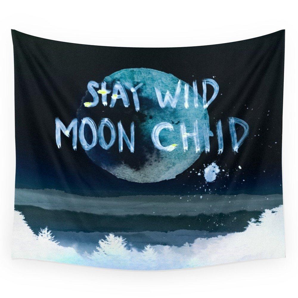 Society6 Stay Wild Moon Child (dark) Wall Tapestry Small: 51'' x 60''