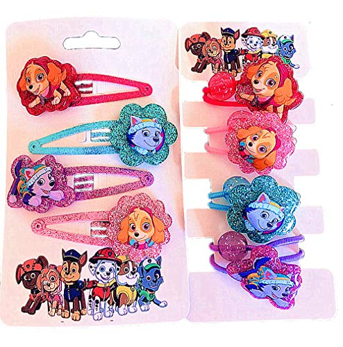 Kerr's Choice Girls Paw Hair Accessories Hair Clips Party Supplies Party Favors Puppy Patrol Birthday Gift -