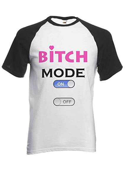 989be195 PatPat Store Btch Mode On Off Buttons Funny Cool Novelty Black/White Men  Women Unisex