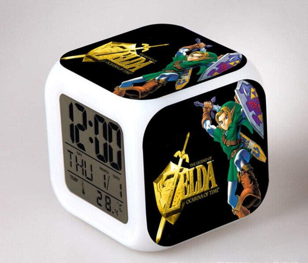 r/éveil num/érique horloge de table de veilleuse mignonne R/éveil num/érique pour enfants Zelda 7 R/éveil cadeau de No/ël dalarme de chambre//sommeil