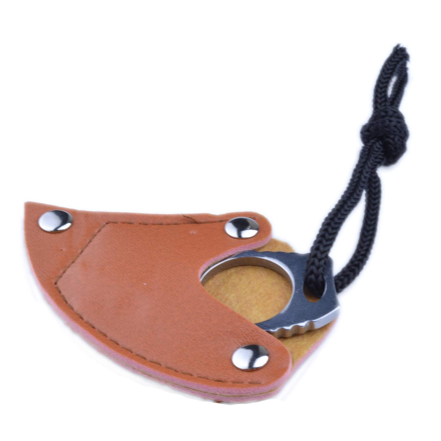 pranovo Steel Finger Claw Knives Hook Fixed Blade Knife Tool for Camping Hunting Outdoor Mountaineering Rock Climbing Equipment Hook Ring