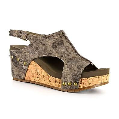 d2cb406d1bf Corkys London Women s Sandal 6 B(M) US Brown-Distressed