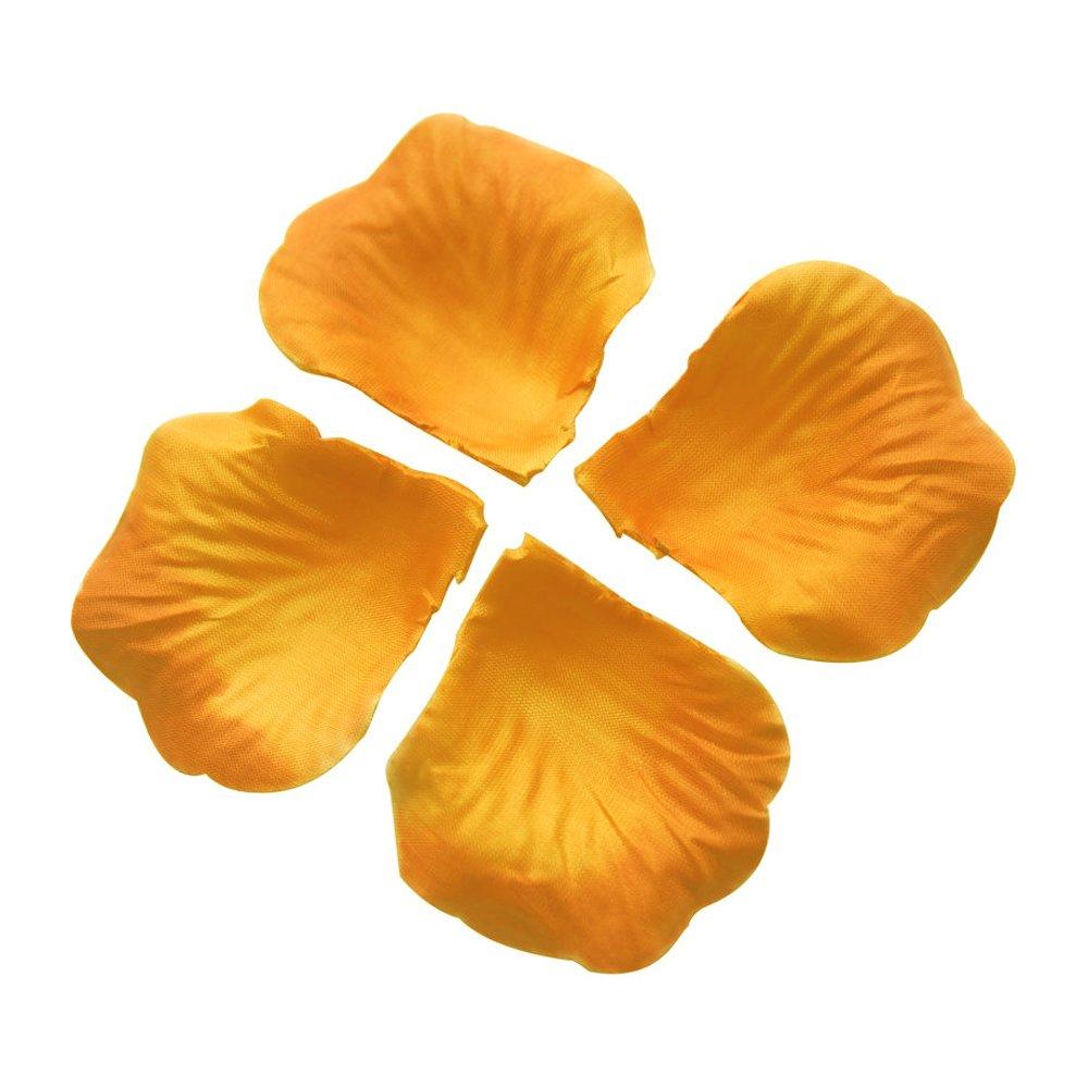 SODIAL (R) 100個ファブリックローズフラワー花びらウェディングデコレーションオレンジ B0192V4KF8