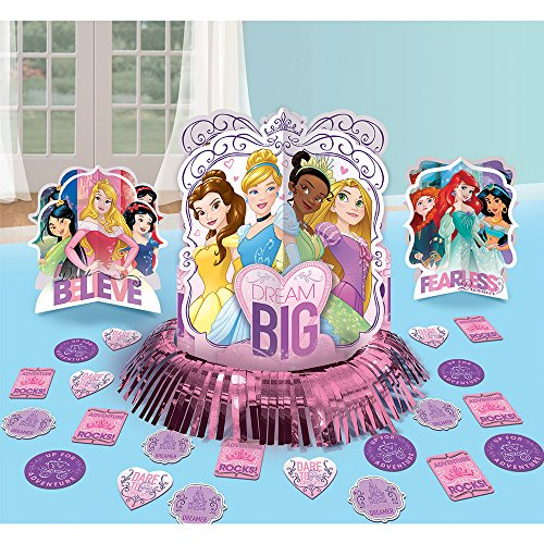 Disney Princess Sparkle Birthday Party Table Decoration Pack (23 Pack), Multi Color.