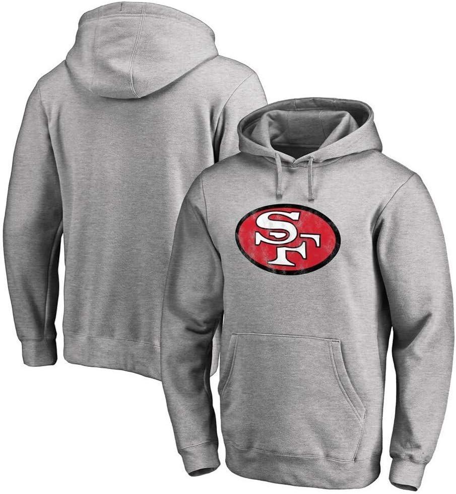 Feikore Maglie da Rugby,Football Americano Felpa per San Francisco 49ers Uomini Incappucciati Pullover Colore: Rosso 1, Dimensione: XXXL