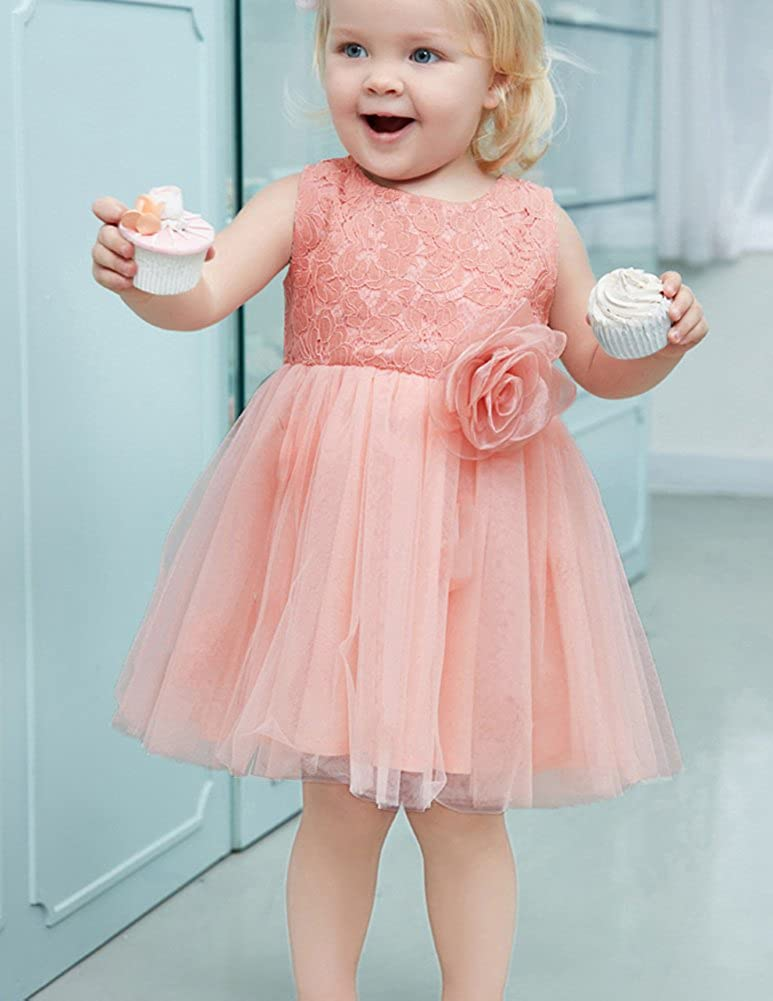 0ae9961f88f50 Danna Belle Robe de Princesse Imprimeé Bowknot Robe de Cérémonie Fille 1-10  Ans  Amazon.fr  Vêtements et accessoires