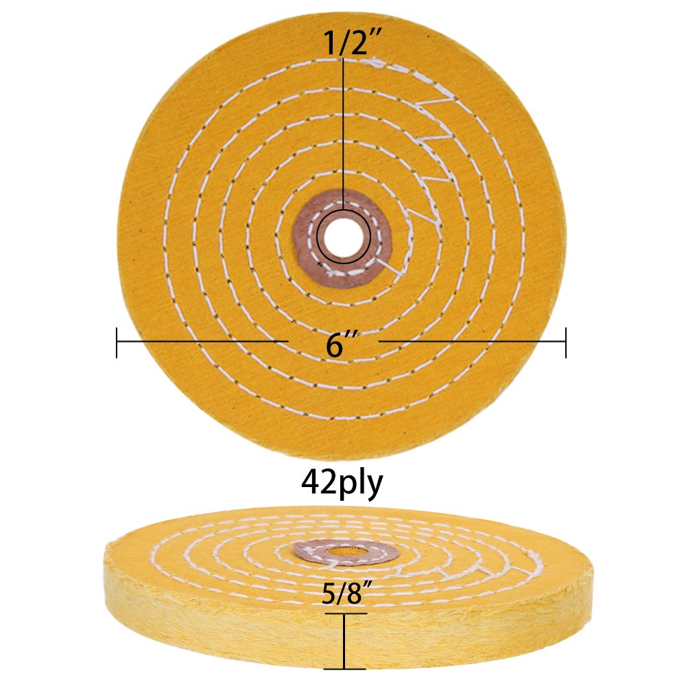 6 Inch Buffing Polishing Wheel 1 2 Inch Arbor Hole For