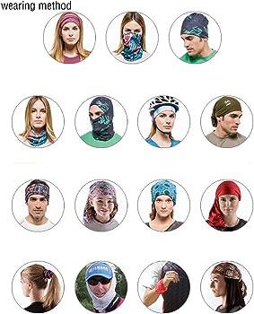 Not Applicable Blue Line Punisher Bandanas Face Cover Headband Scarf Headwrap Neckwarmer Multifunctional Face Shield Nez Cover Neck Gu/être