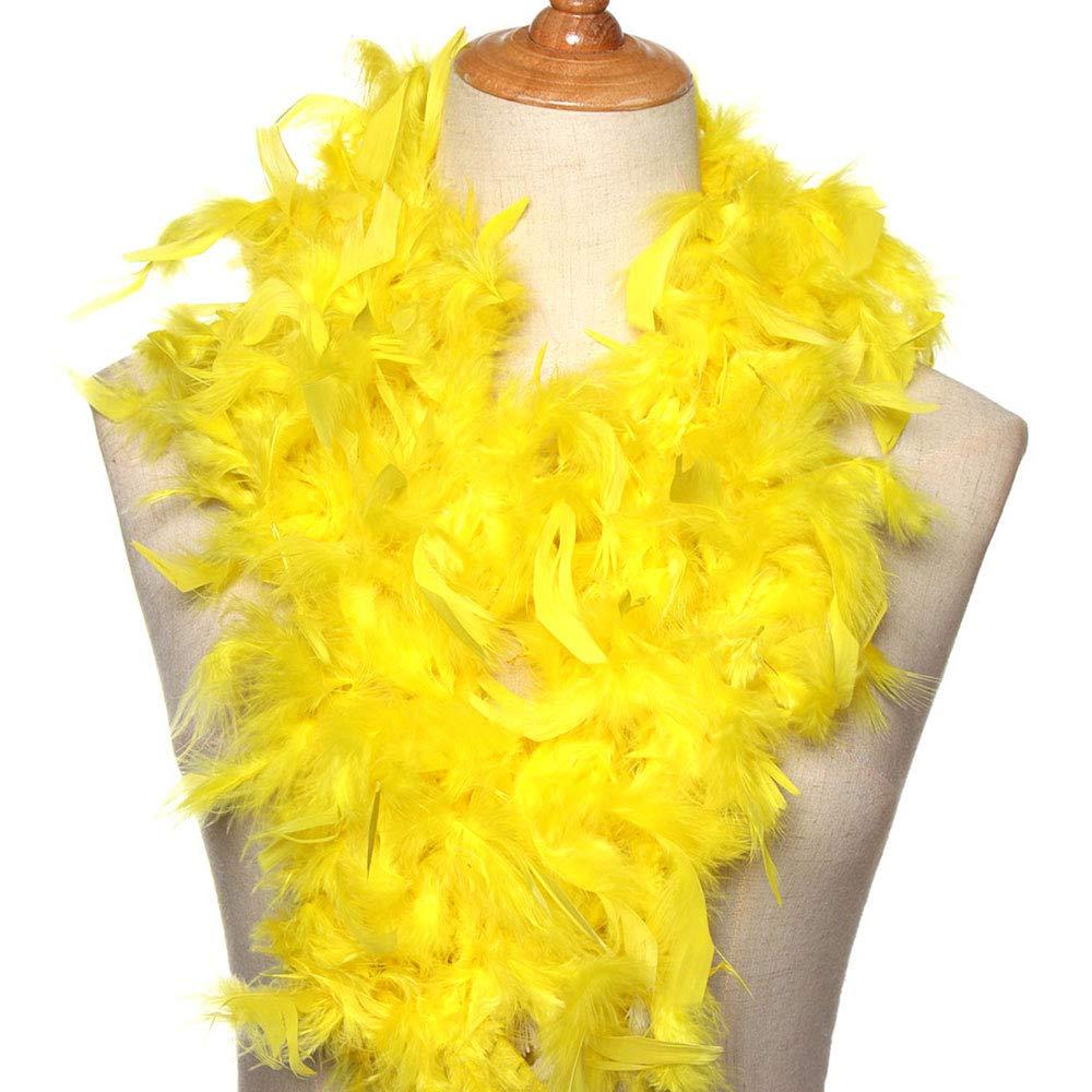 Axing La Pluma del Partido del Vestido Traje de 2M Fuentes de la decoraci/ón de la Boda Las Plumas Accesorios de Ropa Ropa de Tela a Rayas de Color Amarillo