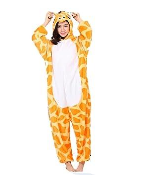 Outdoor top forro polar unisex jirafa disfraz Cosplay Onesie sudaderas/ pijamas/dormir desgaste,