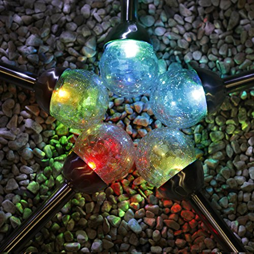 Crackle Glass Ball Solar Lights in US - 4