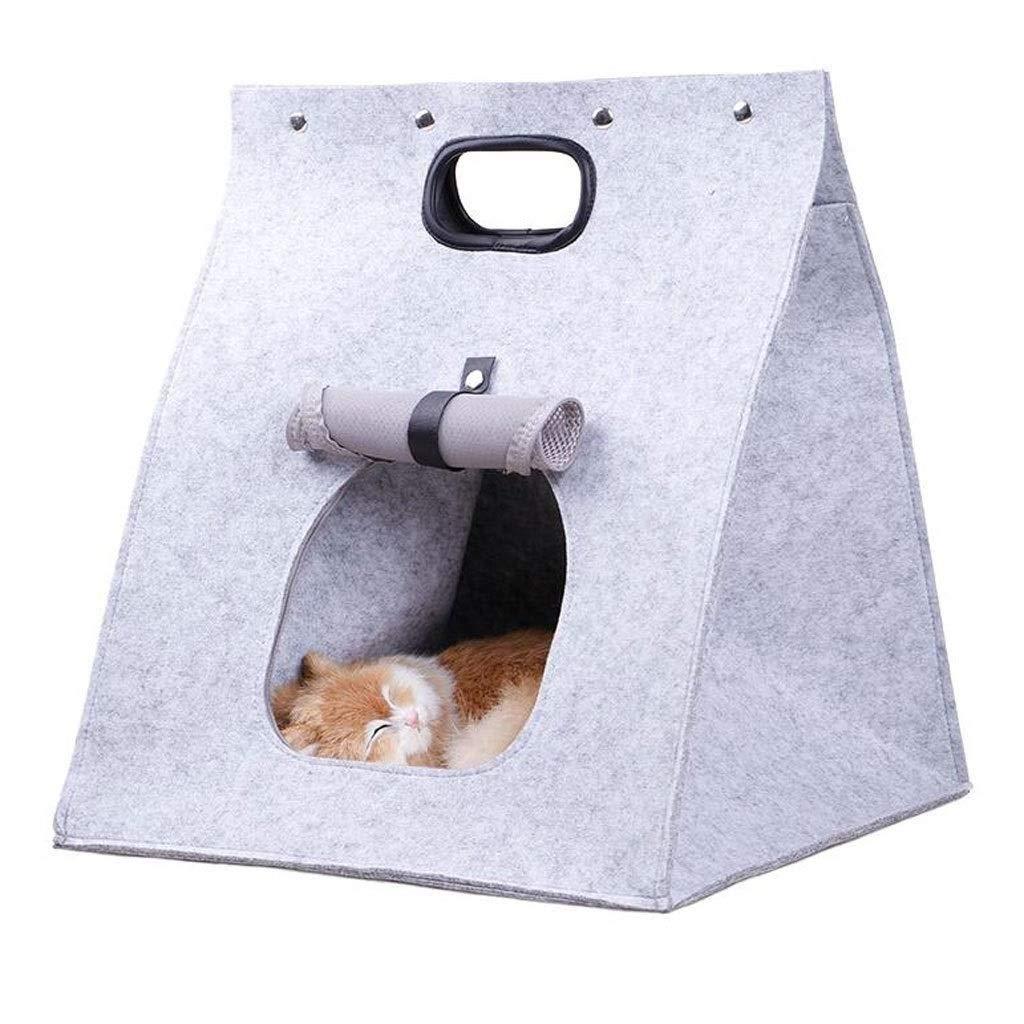 GSAGJcwb 多機能折りたたみケージペットbagThreeとポータブル猫ポータブル通気性ソフト (Color : 白い) 白い