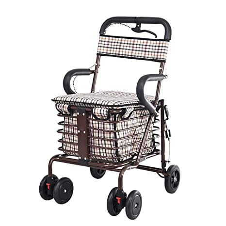 Teng Peng El plegado del carro de la compra del viejo puede empujar al caminante mayor