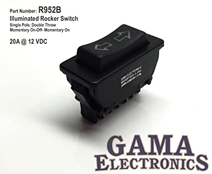 amazon com: gama electronics power window rocker switch 5 wire motor  reversing control: automotive