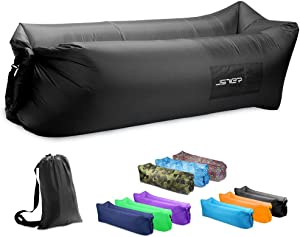 JSVER Air Sofa, Inflatable Lounger Inflatable Couch for Travelling, Outdoor, Camping, Hiking, Beach Parties, Picnic, Backyard, Lakeside, air Hammock Inflatable Lounger, Inflatable Lounger for Adults