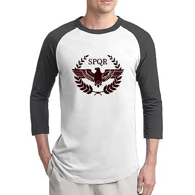 Amazon.com: evaly Hombres de Nuevo Raglan camisetas El SPQR ...
