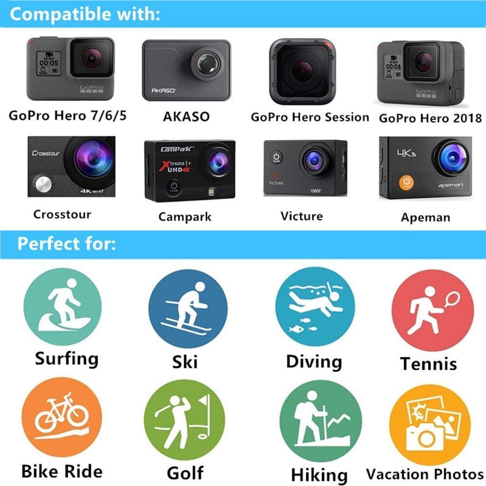 MRMASS Accessories Bundle Kits for Gopro Hero 7 6 5 AKASO EK7000 Brave 4 Sports Action Camera