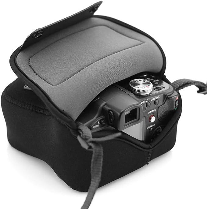 USA Gear Bolsa Funda Cámara Reflex - Protección duradera de Neopreno - para Canon EOS 100D, 400D, 1000D / Sony SX510 HS / Nikon Coolpix S6800 y mucho más: Amazon.es: Electrónica