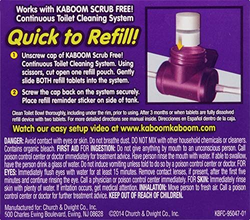 Kaboom Scrub Free! Continuous Clean with OxiClean 3-Pack Refill