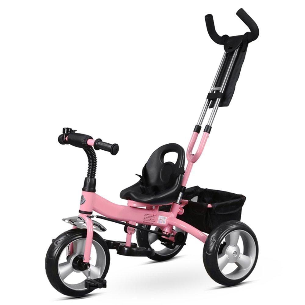 メイルオーダー HAIZHEN マウンテンバイク メーカー直送 子供用三輪車 取り外し可能なプッシュハンドル付き3輪幼児子供用ペダルトライクバイクに乗る18ヶ月から5年 ぴんく ピンク 新生児 B07C6WDT29