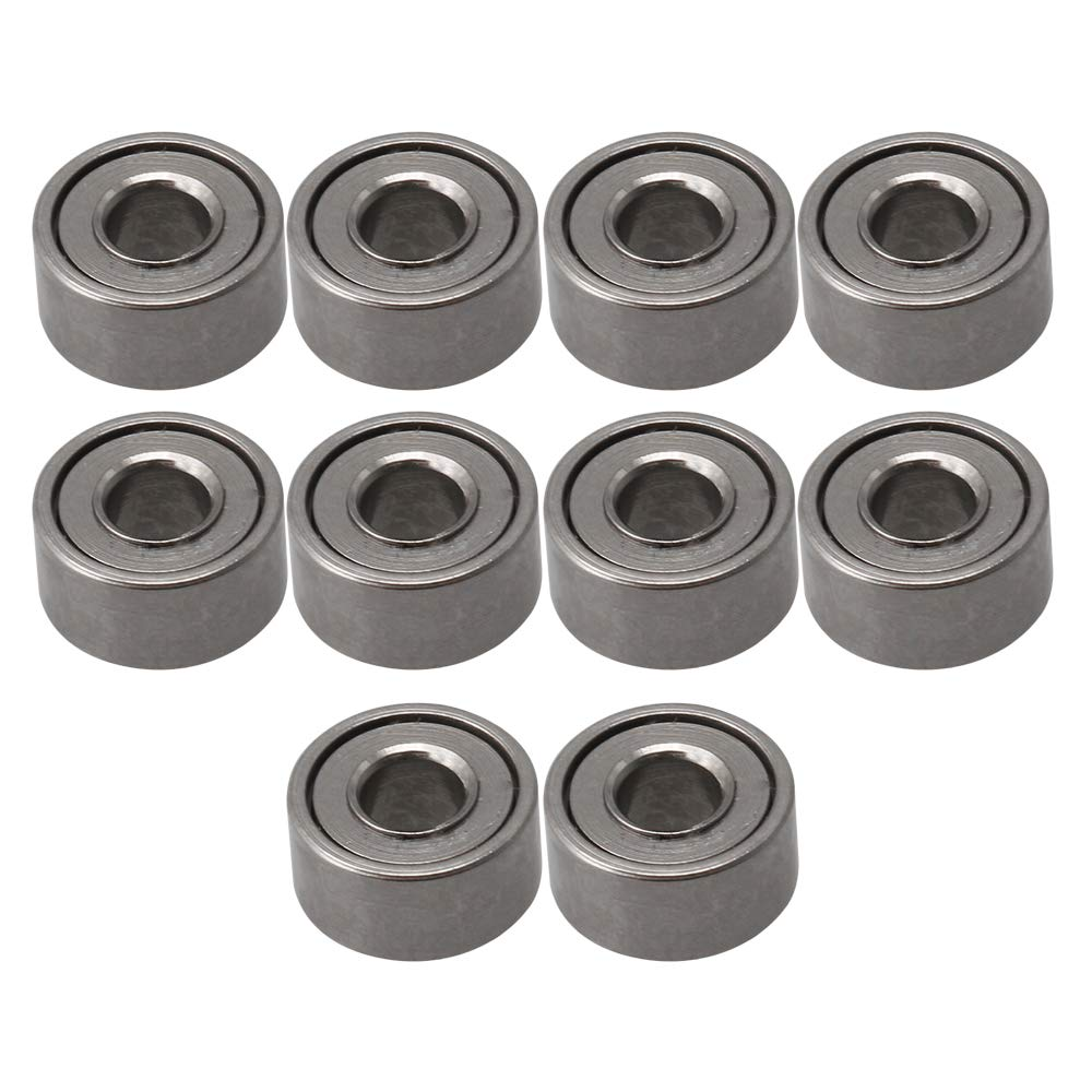 6x10x3 mm // 0,24x0,39x0,12 10 St/ück lager stahl metall miniatur mini nut kugellager micro lager Flying Saucer Ball /Übertragungslager IDxADxDicke