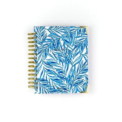Amazon.com : Sweet Caroline Designs Blue Leafy Planner 17 ...