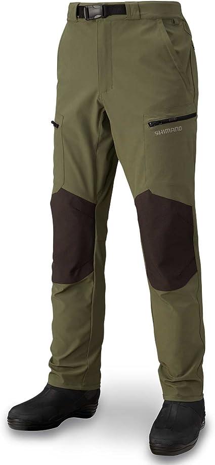 SHIMANO Pantalons Windproof Stretch L Kaki