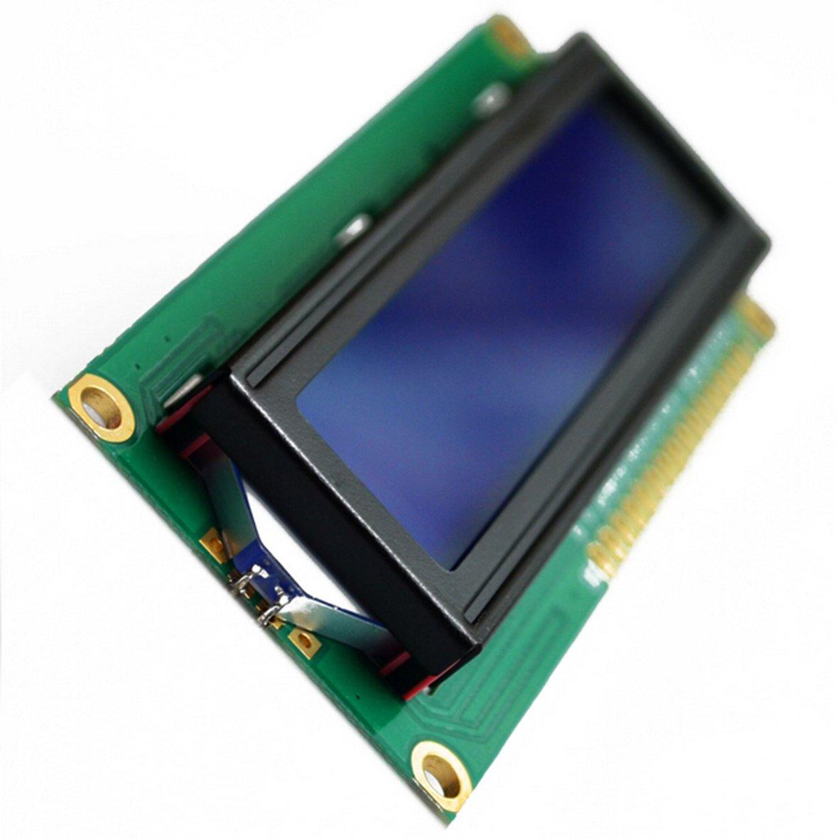 Morismoon 5pack//lot LCD1602 LCD 1602 Pantalla Azul con Retroiluminaci/ón LCD 1602A-5v