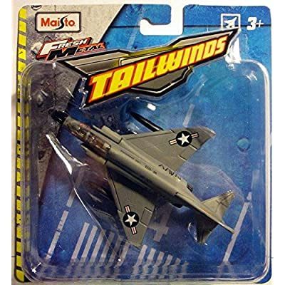 Maisto Fresh Metal Tailwinds Navy F-4 Phantom II Plane: Toys & Games