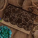 Wishmade Wedding Invitations Cards, Coffee, 100 Pieces, CW5293, Customized Printing