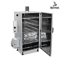 Räucherofen XXL silber Smoking Oven Garten ✔ eckig ✔ Grillen mit Elektrogrill