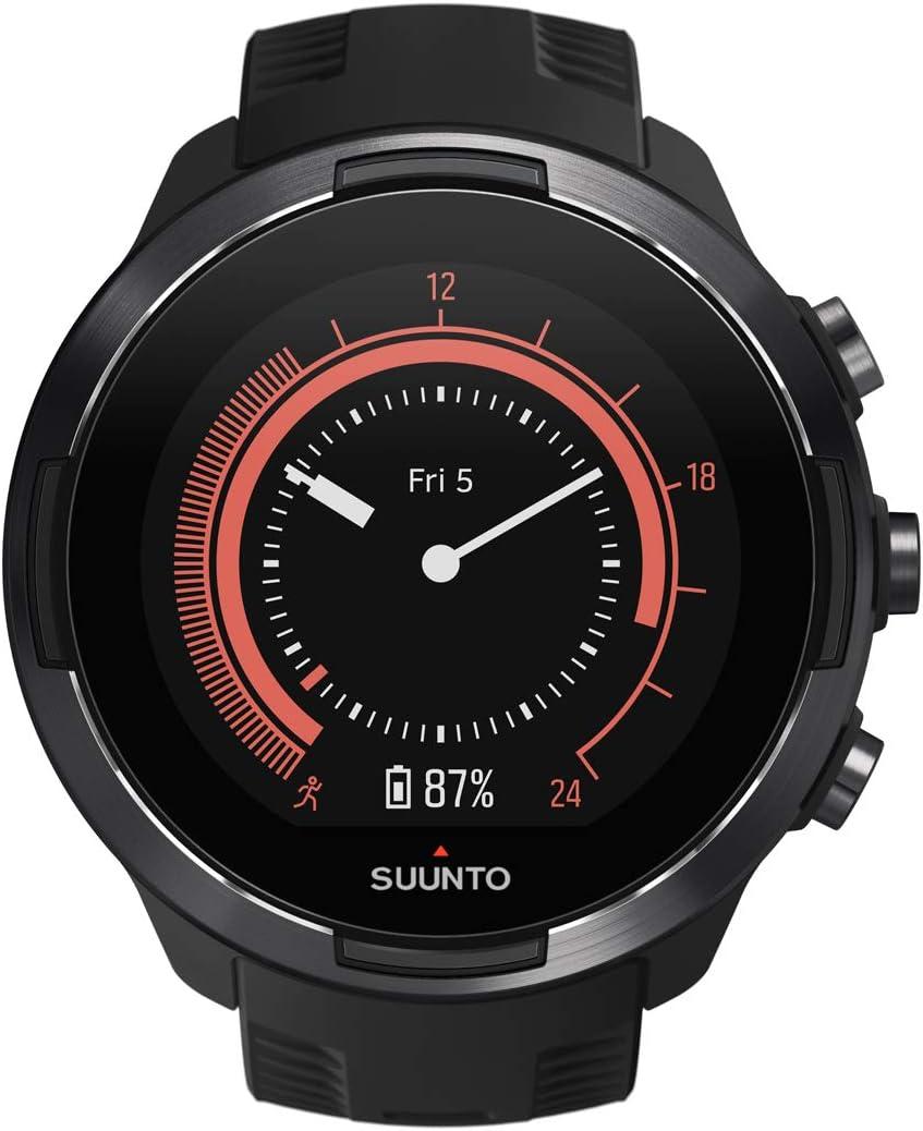 Suunto 9 Baro Reloj Multideporte GPS sin cinturón de frecuencia cardíaca, Unisex Adulto, Negro, 24.5 cm