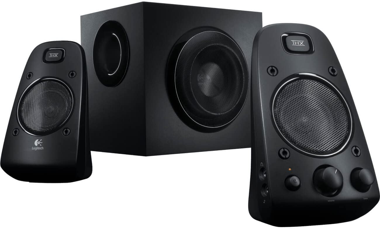 Logitech 980-000402-cr Z623 400 Watt Home Speaker System, 2.1 Speaker System (Renewed), One Size, Black