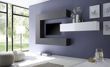 Grigio Per Pareti Soggiorno : Sodani parete attrezzata mobili soggiorno 4 mobili sospesi in