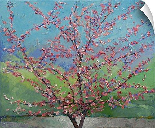 Michael Creese Wall Peel Wall Art Print entitled Eastern Redbud Tree